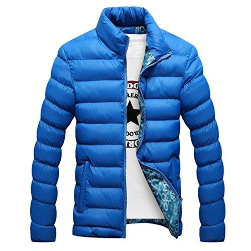 YuanDian Homme Hiver Casual Col Montant Rembourré Doudoune Veste Blouson épaissir Doux Chaud Respirant Coupe-Vent Imperméable Rembourré Matelassé Manteau (Pas de T-Shirt)
