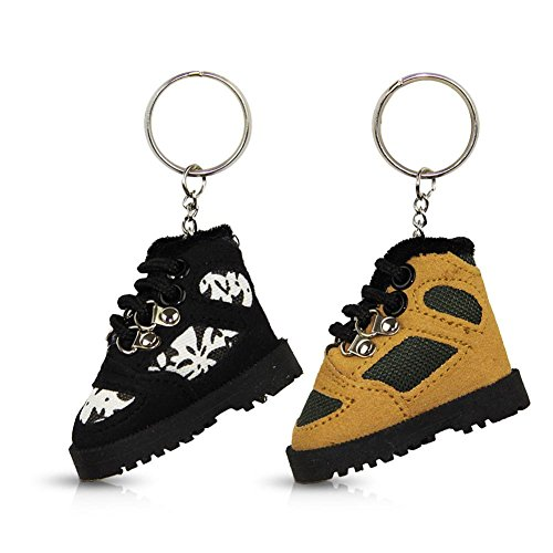 Preisvergleich Produktbild 2 x Schlüsselanhänger Wanderschuh Schuh Schlüssel Schlüsselkette Anhänger sortiert 9,5 cm