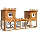 Conejera Grande de Exterior Jaula de Mascota Casa Doble
