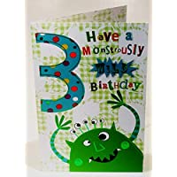 Boy Age 3 Have A Monstrously Wild Birthday Card - Monster
