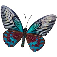LARGE METAL COLOURFUL BUTTERFLY GARDEN DECORATION WALL ART 26cm x 35cm
