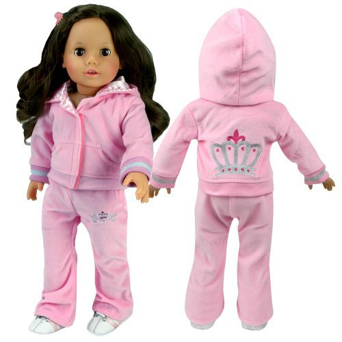 18 Inch Doll Sweatsuit with Crown Details 5b9de23aeb