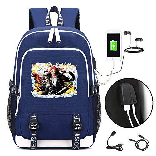 JJJDD One Piece USB-Laderucksack Student Computer Bag Männer und Frauen Reisetasche @ - Beliebte Teenager Mädchen Kostüm
