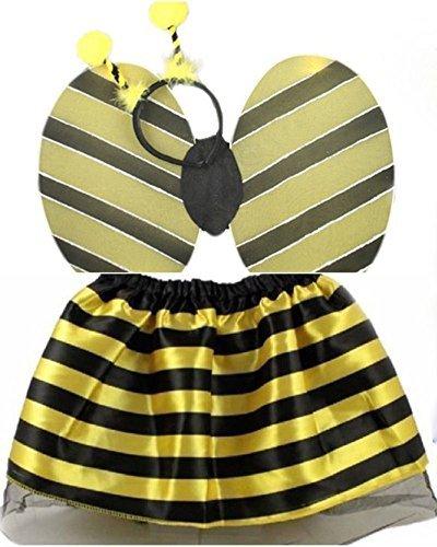 Ladybird Tutu Skirt Bumble Bee Bug Set Fancy Dress Headbands Accessorie (Bumble Bee Set) by Fashion