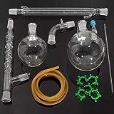 DASEXY 1000mL 24/29 Kit di apparecchi di distillazione for Estrazione Set di vetreria for Laboratorio Distillazione sottovuoto in Vetro ry e scientif