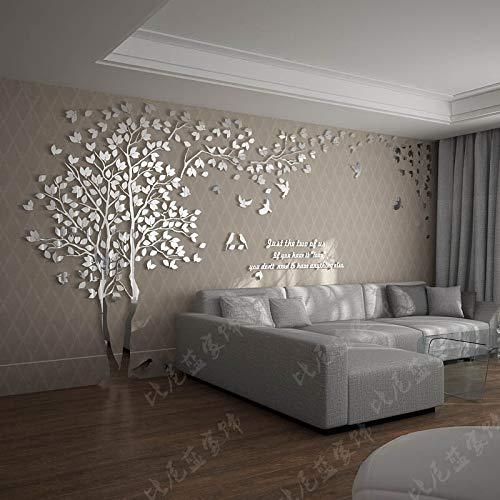 Einfache Dekoration der Stereo Wandaufkleber-Wohnzimmer Kreativen Fernsehhintergrund-Wand des Acryls 3d Volles Silber Links groß (Beste Outdoor Nebel Maschine)