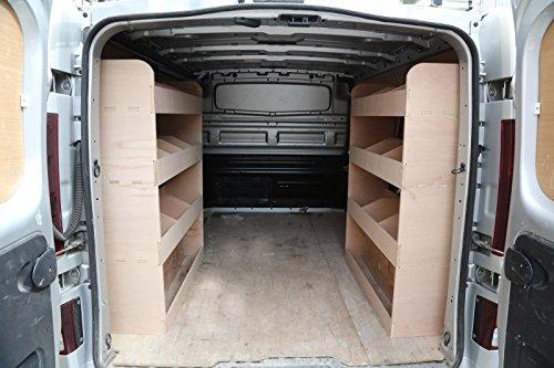 Ford Transit SWB Fahrzeugregal, Sperrholz, rechte und linkte Seite, maßgearbeitet, hinten