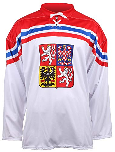 Merco Eishockey-Trikot CZ, OH Soči 2014 Replik (Weiß/Rot, L)