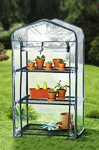 Mini-Gewächshaus , Pflanzenhäuschen mit drei Etagen