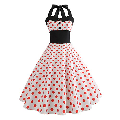 Weihnachten Kleider Damen Abendkleid Ballkleid Cocktail Party Swing Rockabilly 1950er Vintage...