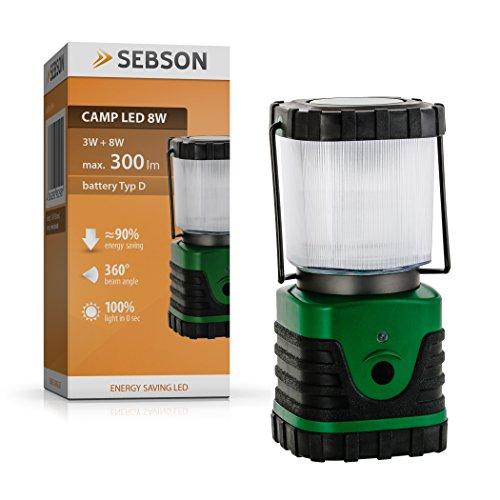 SEBSON LED Campinglampe, dimmbar, batteriebetrieben, Laterne, Zeltbeleuchtung (87 Sicherheits-beleuchtung)