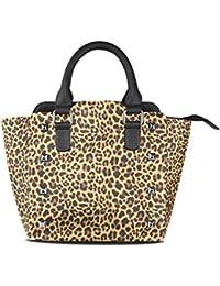 COOSUN Femmes motif léopard fond PU Sacs à bandoulière en cuir haut-poignée Sac à main Sac fourre-tout à bandoulière Moyen Multicolore V1DzX