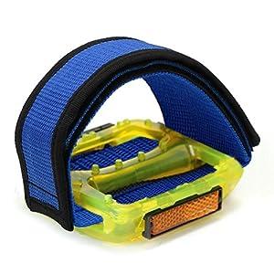 PsmGoods® Fixed Gear Fixie BMX Bike Bicycle Double Velcro Anti-Slip Pedal Toe Clip Straps Magic Tape 1 Pair
