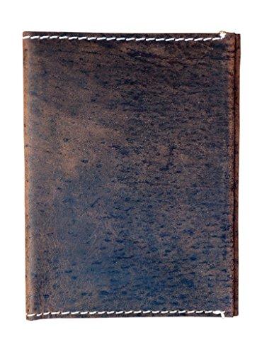 FAIRCRAFT porta documenti da viaggio in pelle da uomo - Marrone, 14cm x 11cm