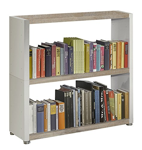Regalsystem Raumteiler Bücherregal Standregal READY 22B Weiß Castle Oak 92x 9...