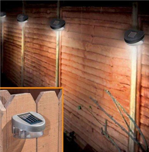 Preisvergleich Produktbild Babz, LED Garten-, Tür, Wand, Zaunbeleuchtung solarbetrieben, 6 Stück