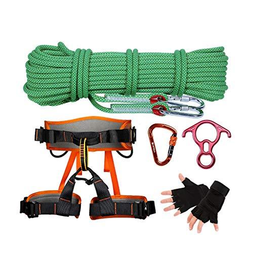 TZB Outdoor Bergsteigen Klettern Geschwindigkeit Drop Set High Air Job Schutz Set Lock Catch Speed   Drop Seil Sicherheitsgurt Abseilgerät (Farbe : 10M) -