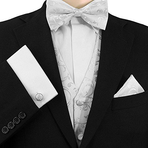GASSANI Festliche Rote Weinrote Fliege m Silber-Effekten fertig gebunden m Doppelfl/ügel Hochzeitsfliege festlich Rot Seidenmischung Herrenfliege Schleife