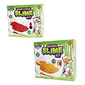 Weird Science CPRMS-SLIMEBUN2 Paquete de 2 Kits de Limo para Maquillaje, Cerebro Zombi y perfumado para niños