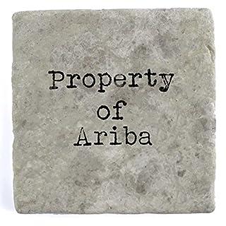 Property of Ariba - Single Marble Tile Drink Coaster
