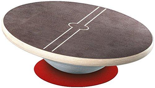 Sport-Thieme Sportkreisel Classic | Balance-Board aus rutschfest beschichtetem Holz mit Alu-Halbkugel | Bis 180 kg | ø 37 cm | Eigene Fertigung | 10 Jahre Garantie