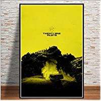 Aiopjkl Twenty One Pilots Rock Music Band Trench Tour Poster Prints Wall Art Modern Painting Wall Pictures For Living Room Home Decor 40X60Cm Without Farme