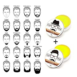 2pcs Top Quality 30G Gift Natural Beard Oil Conditioner Beard Balm for Beard Growth and organ oilic Moustache Wax for Beard Styling
