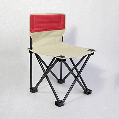 LDFN Klappstuhl Von Outdoor Kunst Sketching Stuhl Tragbare Zurück Einfache Hocker Angeln Stuhl Freizeit Stuhl Strandkorb,Red-36*36*57cm