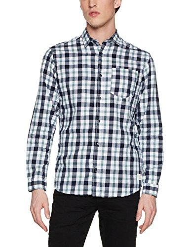 White Pocket Hemd (JACK & JONES Herren Freizeithemd Jcocheck Shirt L/S One Pocket WHS, Mehrfarbig (White Fit: Slim), XX-Large)