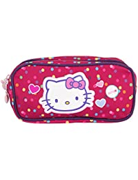 Hello Kitty Poche Supplémentaire Trousse Rectangle 2 Compartiments, Rose (Framboise)