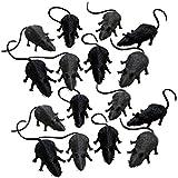 Spassprofi 16 Mäuse Zum Erschrecken f. Fasching Büro Deko Dekoration Gummimaus Scherzartikel