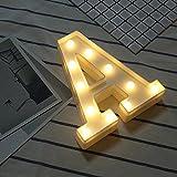 Beleuchtete Buchstaben Nachtlichter Dekoration LED Neon Lampen für Geburtstag Party Hochzeit Kinder Geschenk A-Z (A)