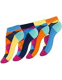 """Lot de 8 paires de socquettes """"ARGYLE"""", pour femme - carreaux coloré - femme"""