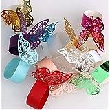 50 piezas Mariposa Anillo de servilleta de Papel Chic Mariposa Anillos de servilleta de reemplazo Hueco del Corte del Papel d