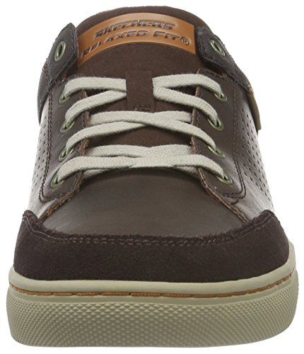 Skechers Herren Elvino Lemen Low-Top Braun (Brn)