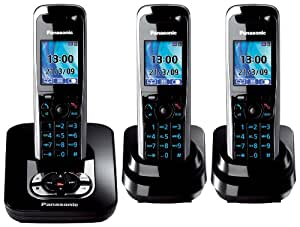 panasonic kx tg8423gb schnurloses dect telefon trio mit elektronik. Black Bedroom Furniture Sets. Home Design Ideas