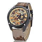Easy Go Shopping Cinturón Deportes al Aire Libre Camo Fuerzas Especiales Camuflaje Reloj de Cuarzo para Hombre (Color : 1)