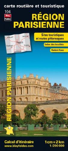 Région Parisienne, carte régionale, routière et touristique