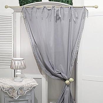 ib laursen vorhang zum binden grau baumwolle b130xh245cm 6121 18. Black Bedroom Furniture Sets. Home Design Ideas