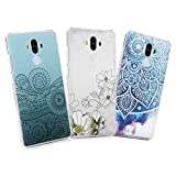 Huawei Mate 9 Hülle Huawei Mate 9 Hardcase YOKIRIN Premium Schutzhülle Case Hart PC Case Handyschale Handyhülle Rückseite Protective Cover Tasche Etui Protective Backcover Schale Totem Blume
