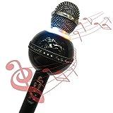 Bluetooth Karaoke Mikrofon,Mikrofon Karaoke Tragbar Drahtlos - Stereo Player für Musik spielen KTV,Party, als Lautsprecher für PC, Laptop, iPhone, iPod, iPad, und Android/iOS oder Alle Smartphone