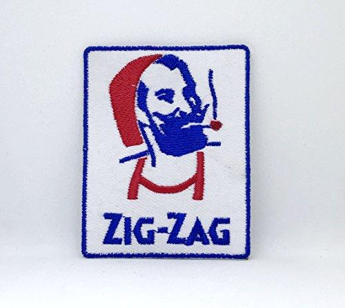 Zig-ZAG - Parche bordado para hombre