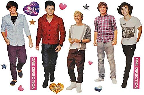 Unbekannt 16 tlg. Set: XXL Wandtattoo / Sticker - One Direction Boygroup Sänger Schauspieler Musiker - Wandsticker Aufkleber