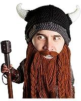 Beard Head Berretto Barba – Predone Vichingo - Cappello Divertenti con Barba Finta