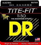 DR Strings TITE-FIT 11-50 Jeu de Cordes pour Guitare Electrique