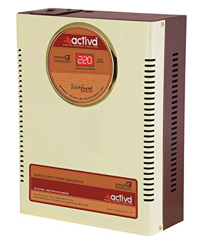 Activa Digital Ac Voltage Stabliser 4 Kva /140-300 Volts Ivory-brown