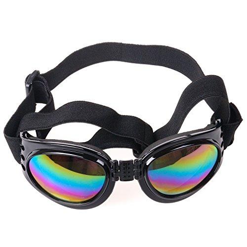 DIGIFLEX Faltbare Einstellbare Medium Hunde-Sonnenbrille Brille Schwarz