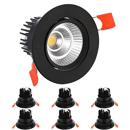BAGZY 6x Foco Empotrable LED Downlight Empotrable 3W 330LM 3000K Blanco Cálido...