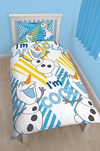 Frozen: El Reino del Hielo Funda Nórdica Reversible Rotary Chillin 135 x 200 cm / 48 x 74 cm