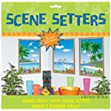 Tropical Sea View Scene Setters - Pack of 3
